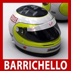 Rubens Barrichello F1 Helmet 3D Model