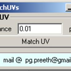 Match UV in maYa for Maya 1.0.0 (maya script)