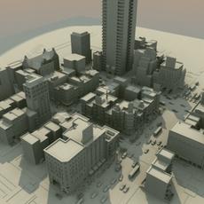 City_Street-Scene_01 3D Model