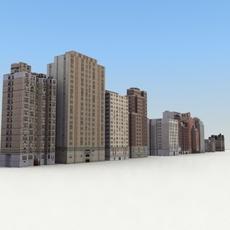 LowBuildings_Set-01_3DGameModels 3D Model