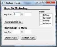 Texture Friend for Maya 1.0.0 (maya script)