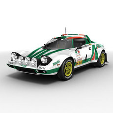 Lancia Stratos rallycar 3D Model