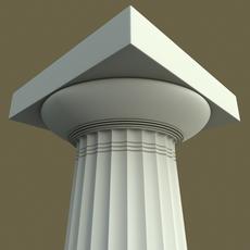 Doric column Paestum type 3D Model