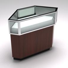Retail showcase corner counter 3D Model