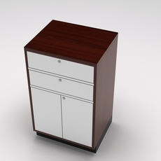 Retail showcase island cash register 3D Model