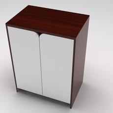 Retail showcase island closet 3D Model
