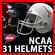 NCAA Football Helmets Pack 3D Model