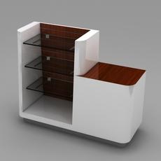 Retail Checkout -  End Cap subassembly 3D Model