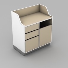 Retail Checkout -  Register cabinet subassembly 3D Model