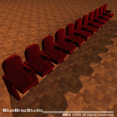 Theatre velvet armchairs 3D Model