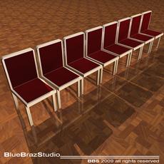 Velvet chairs 3D Model