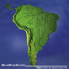 South America 3D Model
