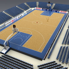 Basketballcourt 3D Model