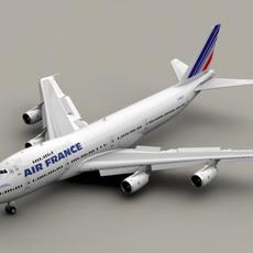 Boeing 747-200 Air France 3D Model