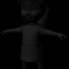 little girl models 3D Model