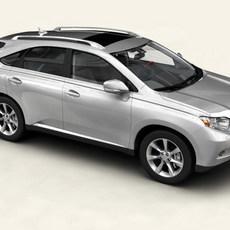 Lexus RX 2010 low res interior 3D Model
