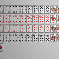 Playing cards 3D Model