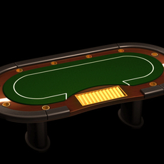 Poker casino table 3D Model