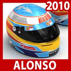2010 F1 Fernando Alonso Helmet 3D Model