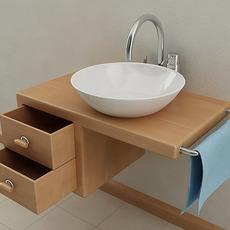 Wallmounted Bathroom Sink 3D Model