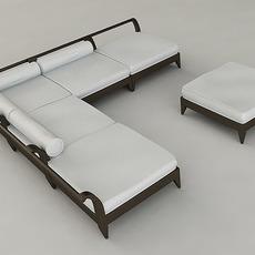 Outdoor Furniture Set 3D Model