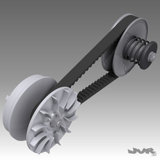 CVT - Small continuously variable transmission 3D Model
