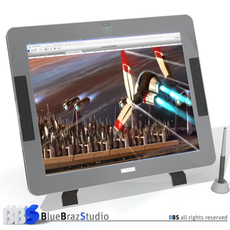 Interactive Tablet 3D Model