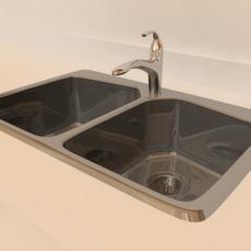 Kitchen Sink (Polygon) 3D Model