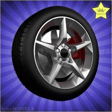 Car wheel 001 3D Model