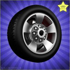 Car wheel 017 3D Model