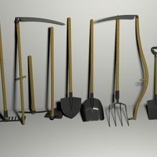 Garden tools pack 3D Model