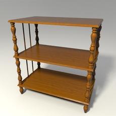 Wooden shelf 3D Model