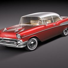 Chevrolet Bel Air 1957 hardtop coupe 3D Model
