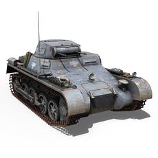 SD.KFZ 101 PzKpfw 1 - Panzer 1 - Ausfuehrung A 3D Model