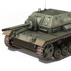 SU-76i - Soviet Assault gun 3D Model