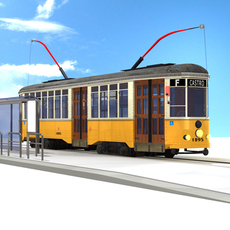 San Francisco tramway 3D Model