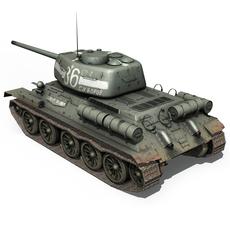 T-34 85 - Soviet medium tank  3D Model