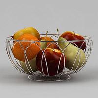 Fruits Vase 3D Model