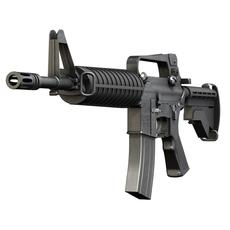 Colt M4 Commando - Assault rifle 3D Model