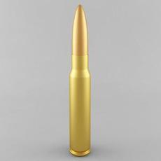 7.92x57mm Mauser Cartridge 3D Model