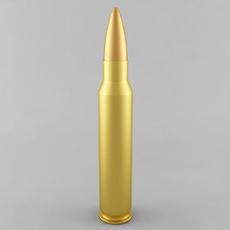 5.56x45 NATO Cartridge 3D Model
