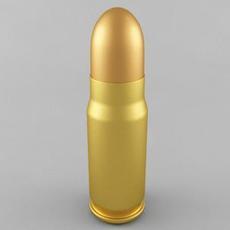 7.62x25 Tokarev Cartridge 3D Model