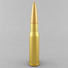 7.62x54R Cartridge 3D Model