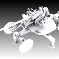 37mm M1939 61-K Automatic Air Defense Gun 3D Model