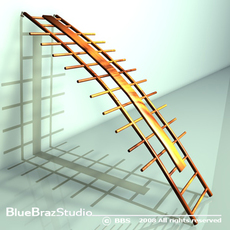 orthopaedic wall bars 3D Model