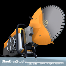 Cut off saw 3D Model