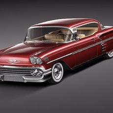 Chevrolet Impala 1958 hardtop coupe 3D Model