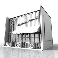Comtemporary Shop Building 3D Model