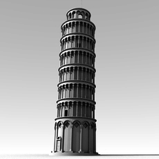 Leaning Tower of Pisa 3D Model