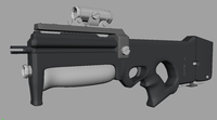 Needle rifle 3D Model